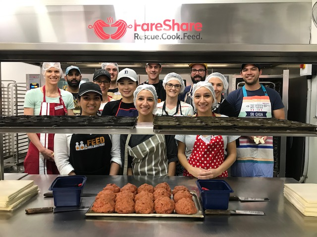 First Financial volunteer with FareShare