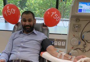 Anthony's 150 plasma donations