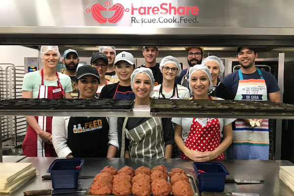 First Financial volunteers with FareShare